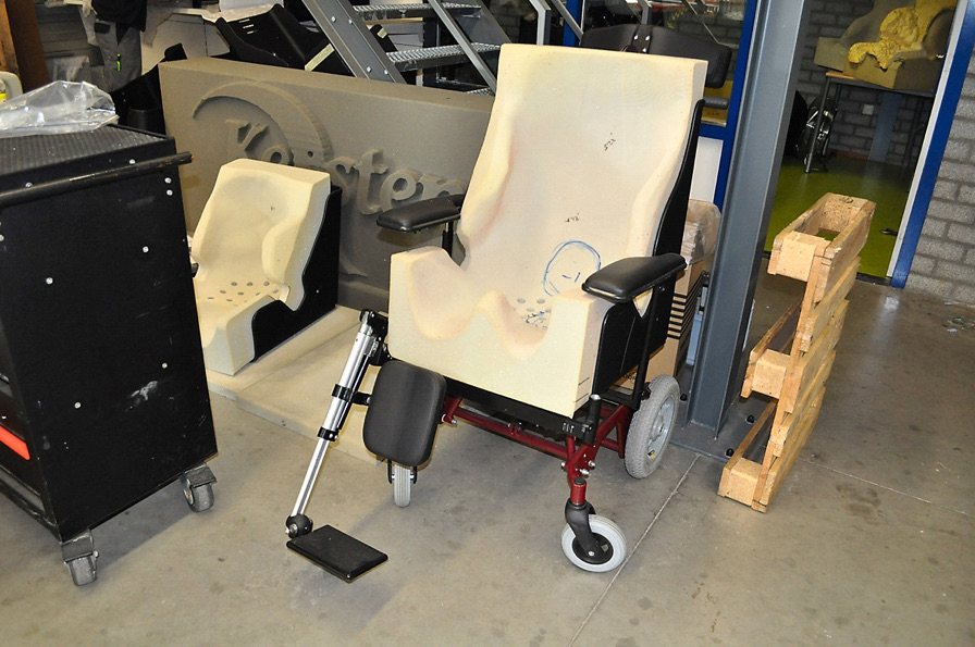 Almost finished customized wheelchair.