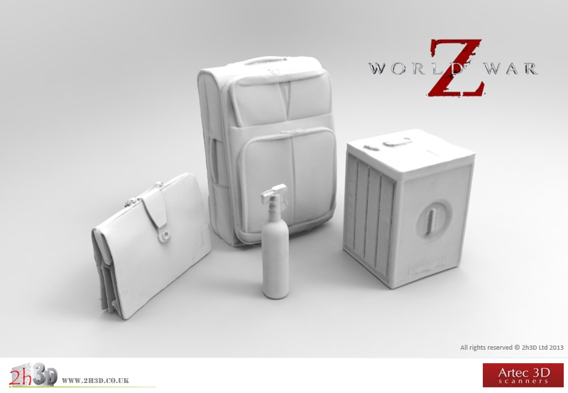 Object 3D scans for World War Z