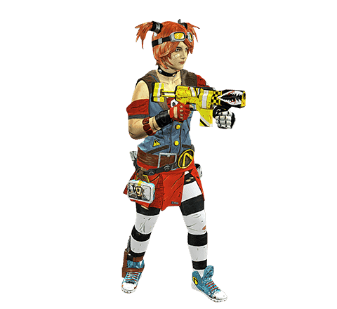Borderlands cosplayer 3D model