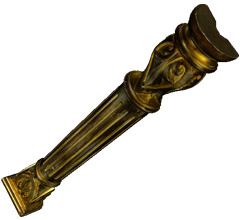 Golden column 3D model