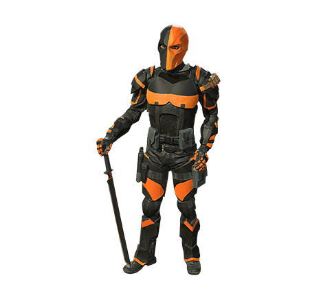 Deathstroke-Cosplayer 3D-Modell