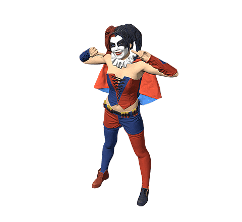 Harley Quinn cosplayer 3D model