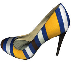 Striped Shoe 3D model