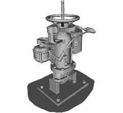 Tower well valve 3D-Modell