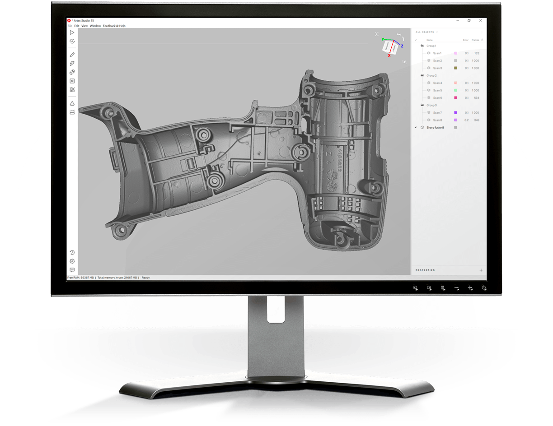 Artec 3D software
